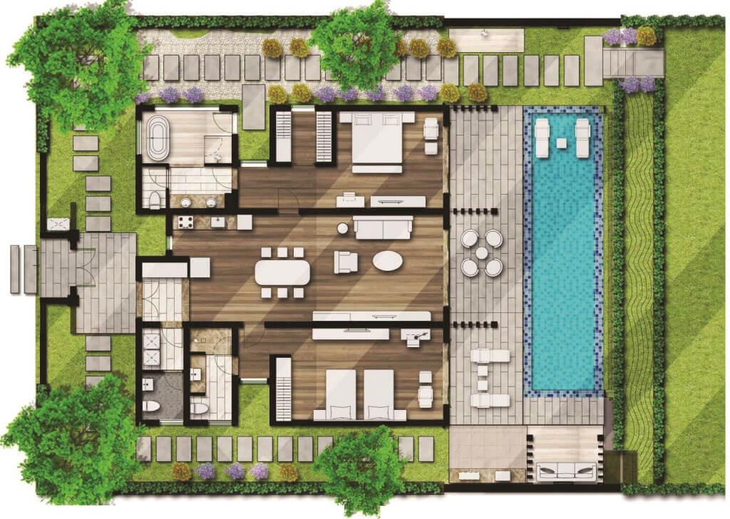 Biệt thự 2pn Mövenpick Cam Ranh Resort